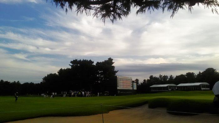 ゴルフ観戦